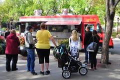 Het voedselvrachtwagen van Boyz van Perogy Stock Foto's