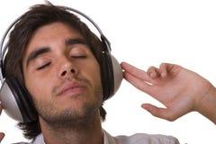 Het voelen van de muziek Stock Foto's