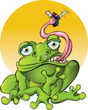 Het voelen van Froggy Stock Foto