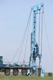 Het voertuig van de de boringsinstallatie van de olieexploratie Royalty-vrije Stock Afbeeldingen
