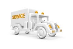 Het voertuig van de dienst Vector Illustratie