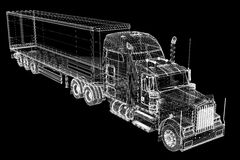 Het voertuig van de ladingslevering Royalty-vrije Stock Fotografie