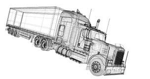 Het voertuig van de ladingslevering Stock Afbeeldingen