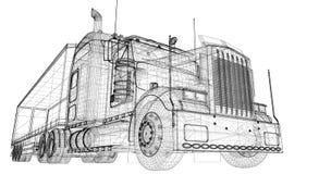 Het voertuig van de ladingslevering Royalty-vrije Stock Foto's