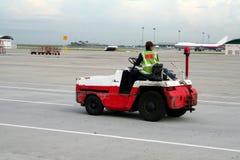Het voertuig van de luchthaven Stock Foto