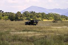 Het Voertuig van de safari Royalty-vrije Stock Foto