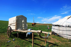 Het voertuig van Lele op de Weide van Nailin Gol Royalty-vrije Stock Afbeelding