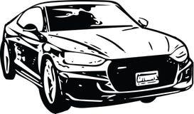 Het Voertuigsilhouet van conceptensportscar Stock Afbeeldingen