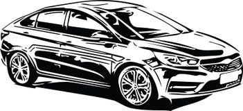 Het Voertuigsilhouet van conceptensportscar Stock Foto