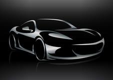 Het Voertuigsilhouet van conceptensportscar Royalty-vrije Stock Afbeeldingen