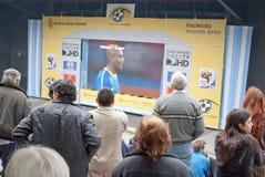 Het Voetbal 2010 van de Kop van de wereld Stock Foto
