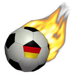 Het Voetbal/de Voetbal van de Kop van de wereld - Duitsland op Brand Stock Afbeelding