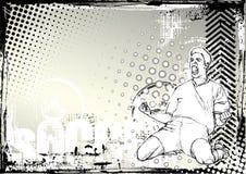 Het voetbal grunge achtergrond van het potlood royalty-vrije illustratie