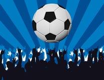 Het voetbal is mijn godsdienst Stock Afbeelding