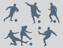 Het voetbal stelt Vector 2 voor stock afbeeldingen
