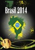 Het voetbal 2014 van Brazilië Stock Afbeeldingen