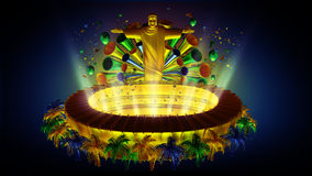 Het voetbal van Brazilië Royalty-vrije Stock Afbeeldingen