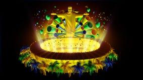Het voetbal van Brazilië Royalty-vrije Stock Foto's