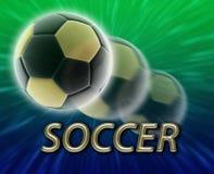 Het voetbal van de de kopvoetbal van de wereld stock illustratie
