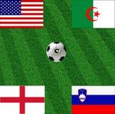 Het voetbal van de de wereldkop van de groep C stock afbeeldingen