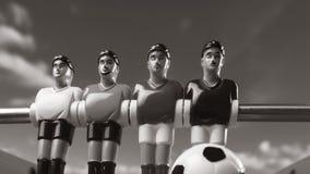 Het voetbal van de Foosballlijst de tijd van de voetbalsterssport Stock Afbeelding
