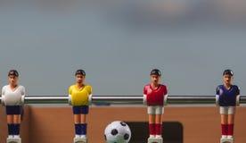Het voetbal van de Foosballlijst de tijd van de voetbalsterssport Royalty-vrije Stock Fotografie