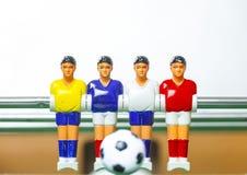 Het voetbal van de Foosballlijst voetbalsterssport teame Royalty-vrije Stock Foto