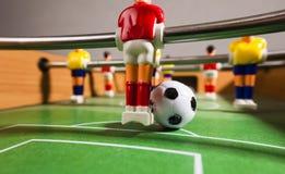 Het voetbal van de Foosballlijst voetbalsterssport teame Stock Foto