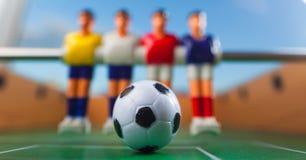Het voetbal van de Foosballlijst voetbalsterssport teame Stock Fotografie