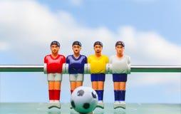 Het voetbal van de Foosballlijst voetbalsterssport teame Royalty-vrije Stock Afbeeldingen