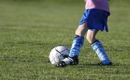 Het Voetbal van de jeugd stock foto