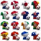 Het Voetbal van de Kop van de wereld - Zuid-Afrika 2010 Stock Afbeeldingen