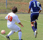 Het Voetbal van de middelbare school Stock Foto