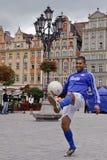 Het Voetbal van de straat Stock Fotografie