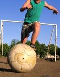 Het voetbal van de straat royalty-vrije stock afbeeldingen