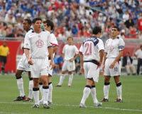 Het Voetbal 2004 van de teamv.s. Stock Afbeelding