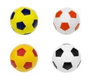 Het voetbal van de vier die Balvoetbal op witte achtergrond wordt geïsoleerd Stock Afbeelding