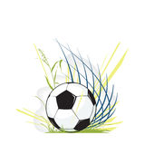 Het voetbal van de voetbal Stock Afbeelding