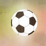 Het voetbal van de voetbal op papier Royalty-vrije Stock Foto