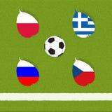Het voetbal van de voetbal van vlag Stock Afbeeldingen