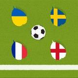 Het voetbal van de voetbal van vlag Stock Foto