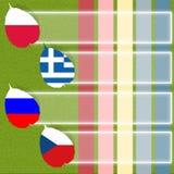 Het voetbal van de voetbal van vlag Stock Fotografie