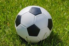 Het voetbal van het de voetbalgras van het balgebied competition stock foto