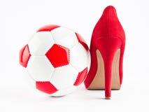 Het voetbal van de vrouw Stock Foto