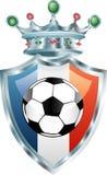 Het voetbal van Frankrijk Stock Afbeeldingen