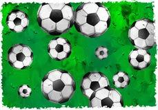 Het voetbal van Grunge Stock Foto's