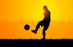 Het voetbal van het spel vector illustratie