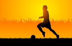 Het voetbal van het spel Stock Afbeeldingen