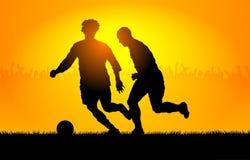 Het voetbal van het spel Royalty-vrije Stock Foto's