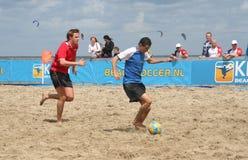 Het Voetbal van het strand Stock Afbeelding
